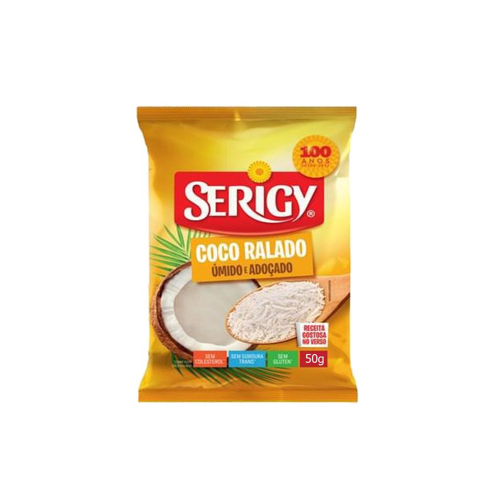 Coco Ralado Extra Úmido 50g Serigy (caixa c/50)