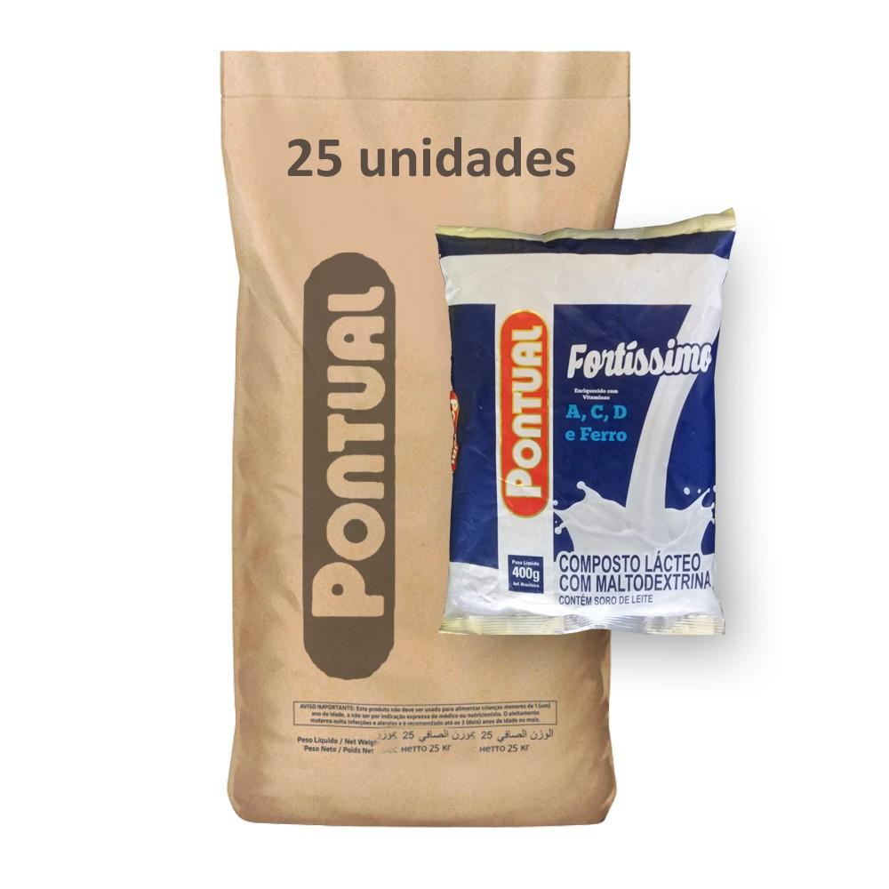 Composto Lácteo Pontual 400g (Fardo 10kg)  - Grupo Borges Atacadista