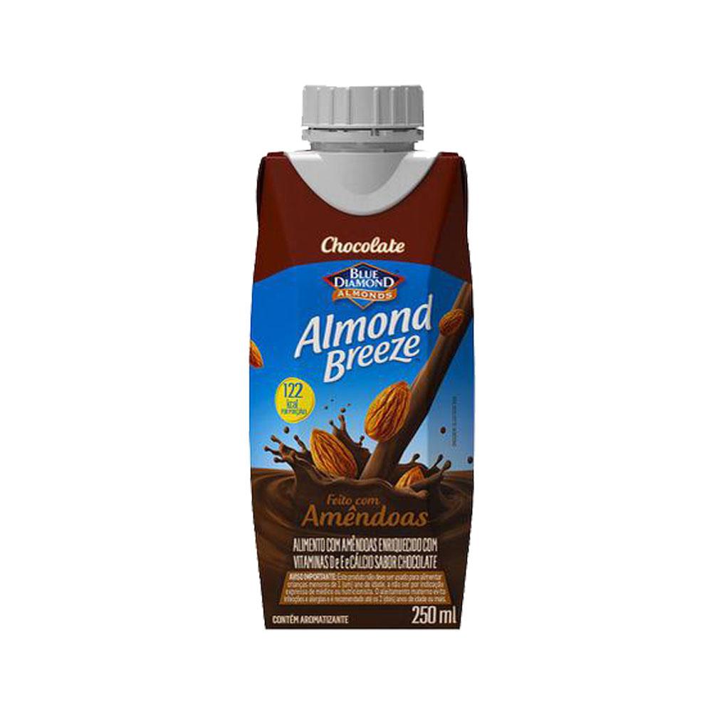 Bebida láctea  Almond Breeze 250ml Chocolate (caixa c/12)