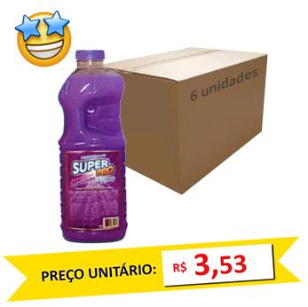 Desinfetante Lavanda SuperPro 2l (Caixa c/ 6)