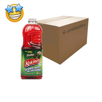 Desinfetante Kokinos Pinho 2l (Caixa c/6)  - Grupo Borges Atacadista