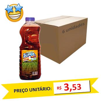 Desinfetante Pinho SuperPro 2l (Caixa c/ 6)