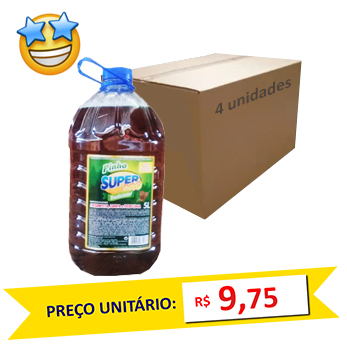 Desinfetante Pinho Tradicional SuperPro 5l (Caixa c/ 4)