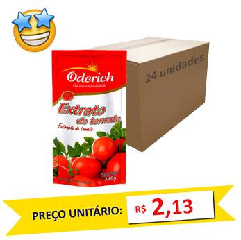 Extrato de Tomate Oderich 340g (Caixa c/ 24)  - Grupo Borges Atacadista