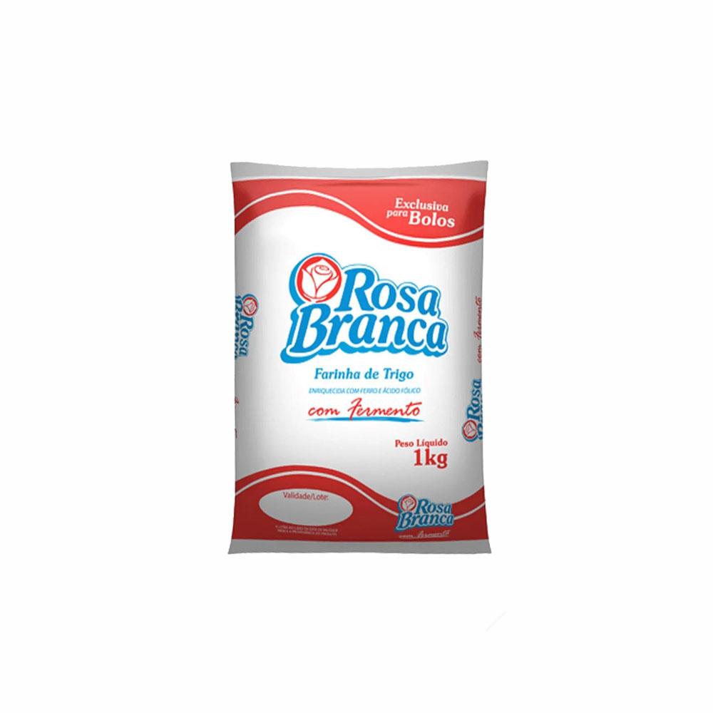 Farinha de trigo Rosa Branca c/ fermento 1kg (fardo c/10)