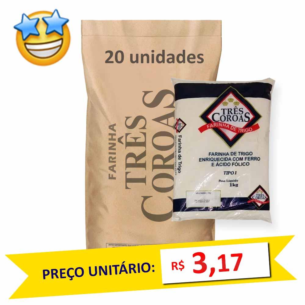 Farinha de Trigo Três Coroas kg (Fardo c/ 20)