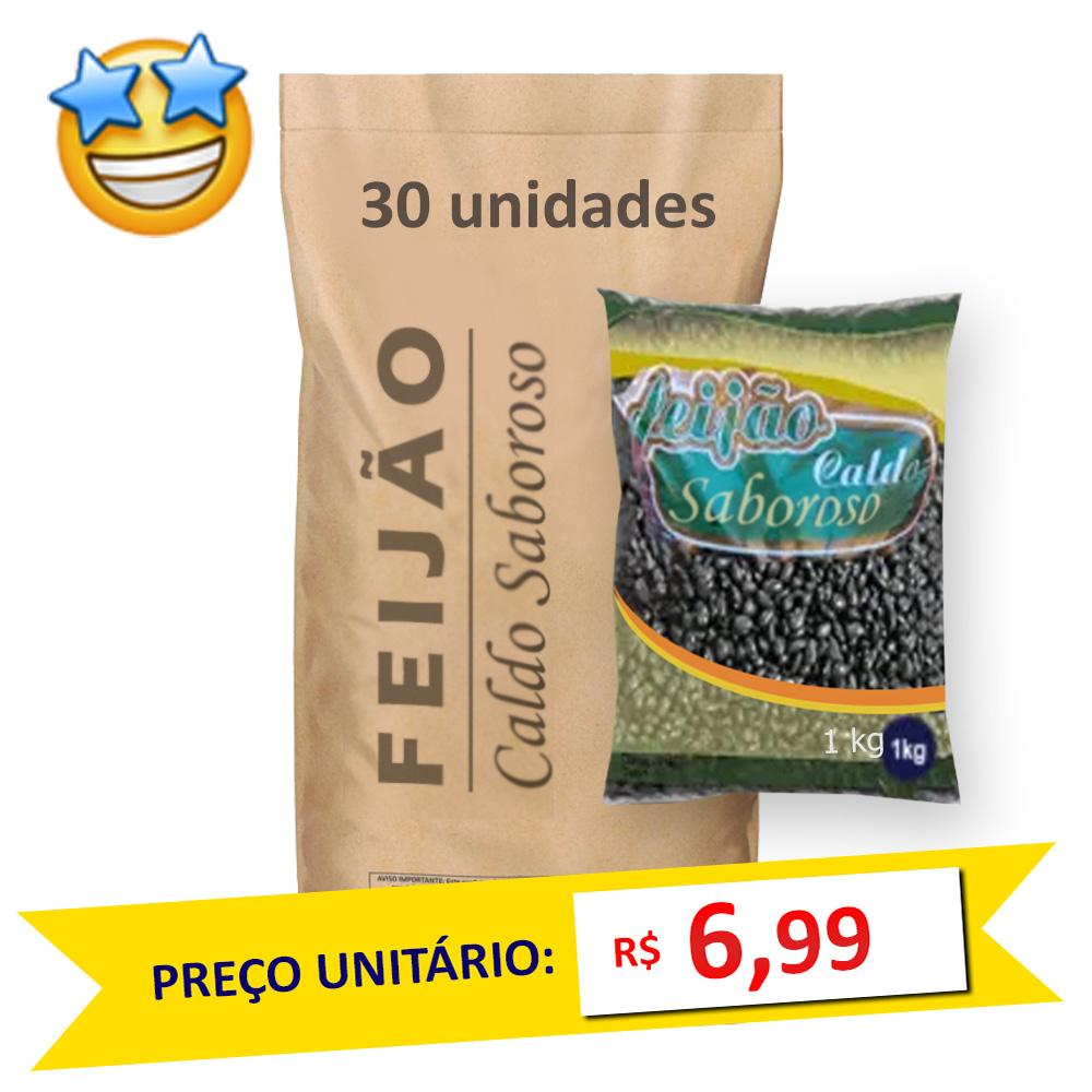 Feijão Preto Tipo1 Caldo Saboroso kg (Fardo 30kg)
