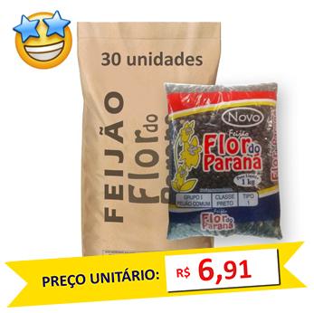 Feijão Preto Tipo1 Flor do Paraná (Fardo 30kg)  - Grupo Borges Atacadista