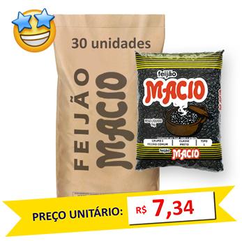 Feijão Preto Tipo1 Macio (Fardo 30kg)  - Grupo Borges Atacadista