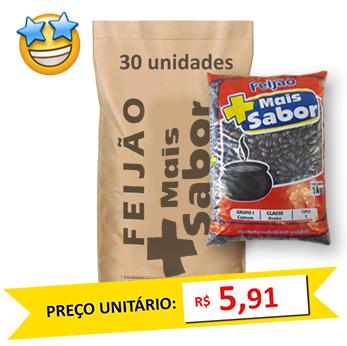 Feijão Preto Tipo1 Mais Sabor (Fardo 30kg)  - Grupo Borges Atacadista