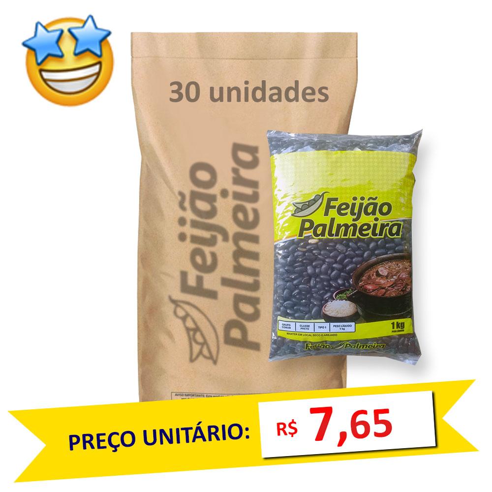 Feijão Preto Tipo1 Palmeira kg (Fardo c/ 30)  - Grupo Borges Atacadista