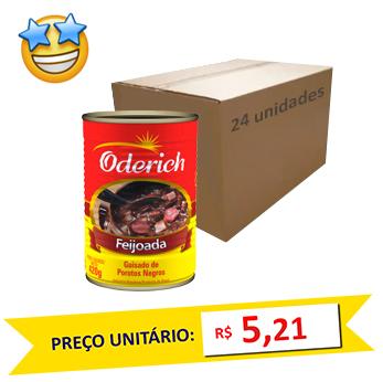 Feijoada Enlatada Oderich 420g (Caixa c/ 24)  - Grupo Borges Atacadista