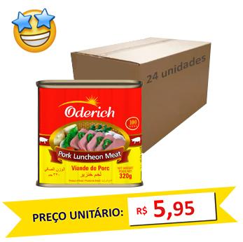 Fiambre Suíno Oderich 320g (Caixa c/ 24)  - Grupo Borges Atacadista