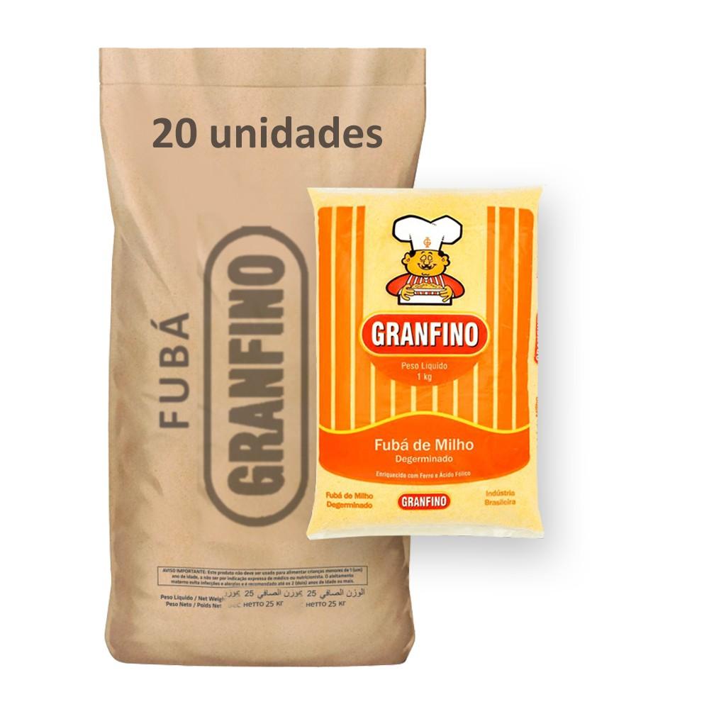 Fubá de Milho Granfino kg (Fardo 20kg)  - Grupo Borges Atacadista