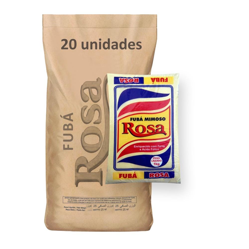 Fubá de Milho Rosa kg (Fardo 20kg)  - Grupo Borges Atacadista