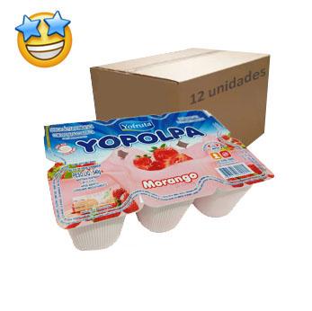 Iogurte Morango Yopolpa 540g (Caixa c/ 12)