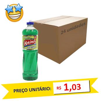 Detergente Limão Kokinos 500ml (Caixa c/ 24)