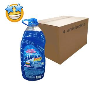 Lava Roupas Líquido Azul SuperPro 3l (Caixa c/ 4)