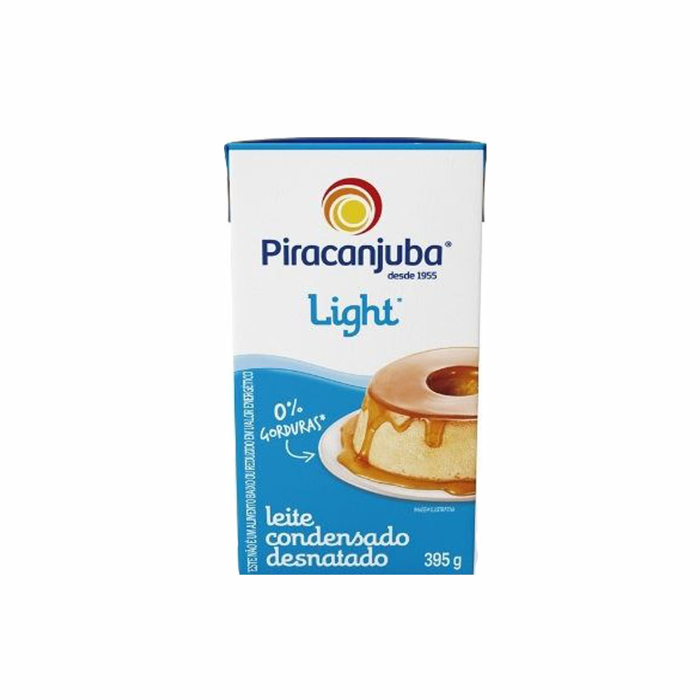 Leite condensado Light Piracanjuba 395g (fardo c/27)