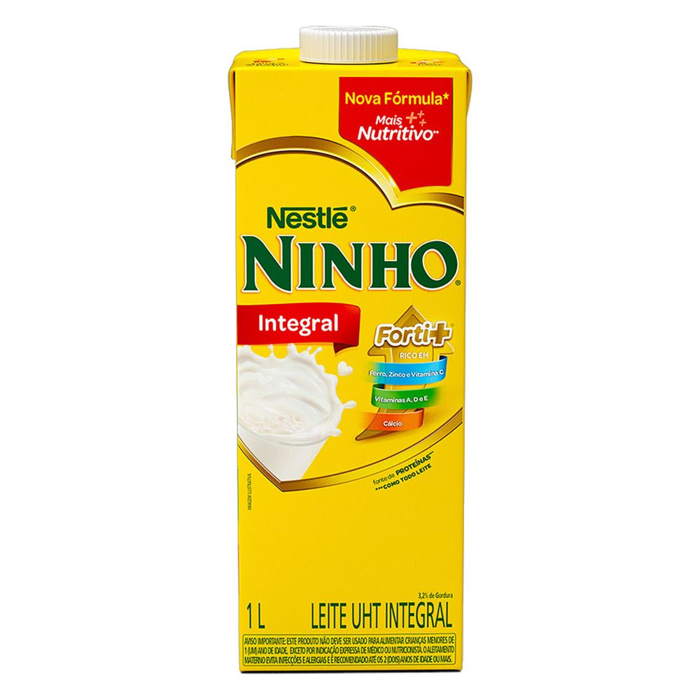 Leite integral Ninho Nestle 1L (cx c/12)