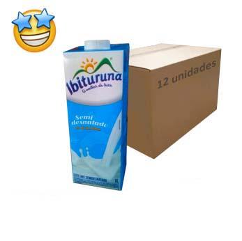 Leite Semidesnatado UHT Ibituruna (Caixa c/ 12)