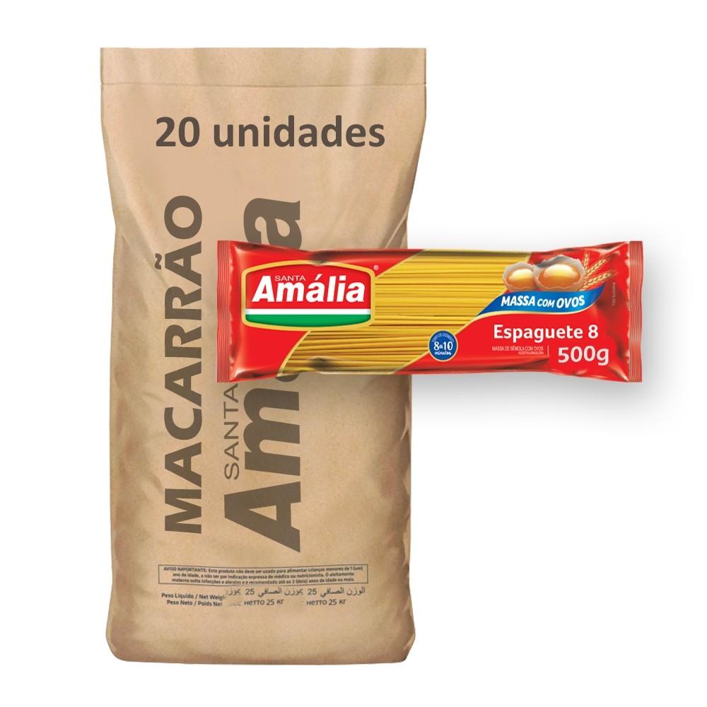 Macarrão Espaguete Amália 500g (Fardo 20kg)  - Grupo Borges Atacadista