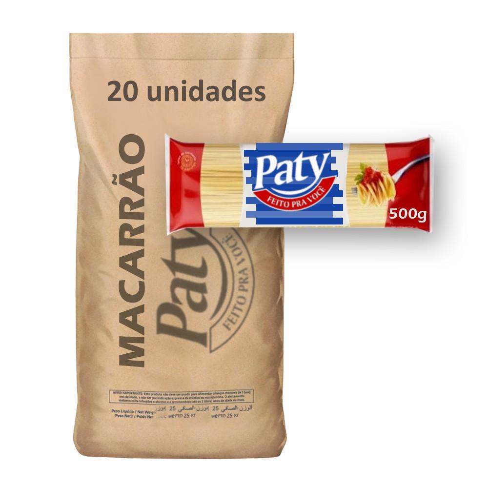 Macarrão Espag. Sêmola Paty 500g (Fardo c/ 10kg)  - Grupo Borges Atacadista
