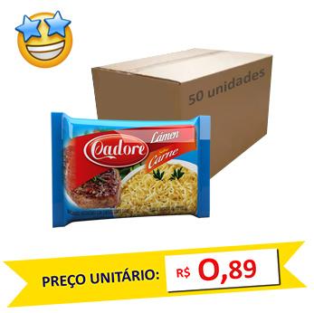 Macarrão Lámen Cadore 85g Carne (Fardo c/ 50)