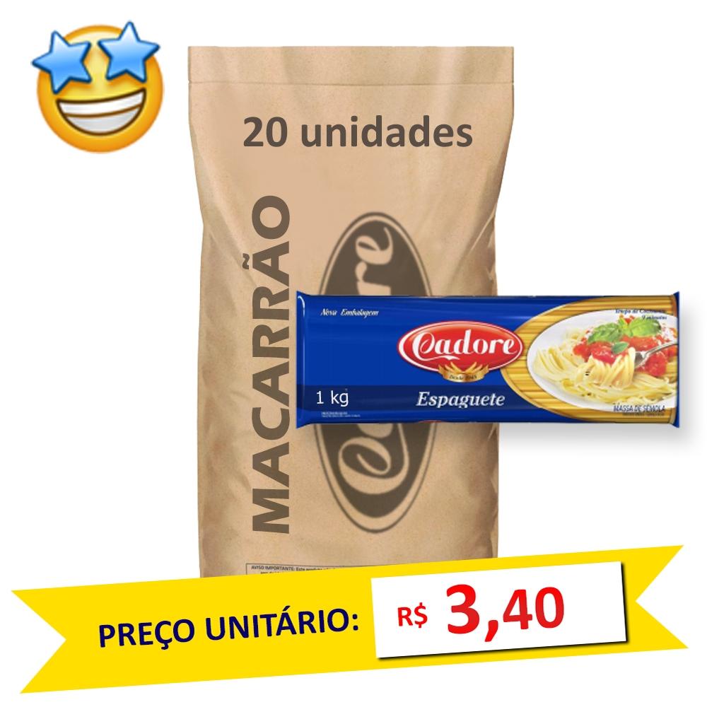 Macarrão Sêmola Espaguete Cadore 1kg (Fardo 20kg)