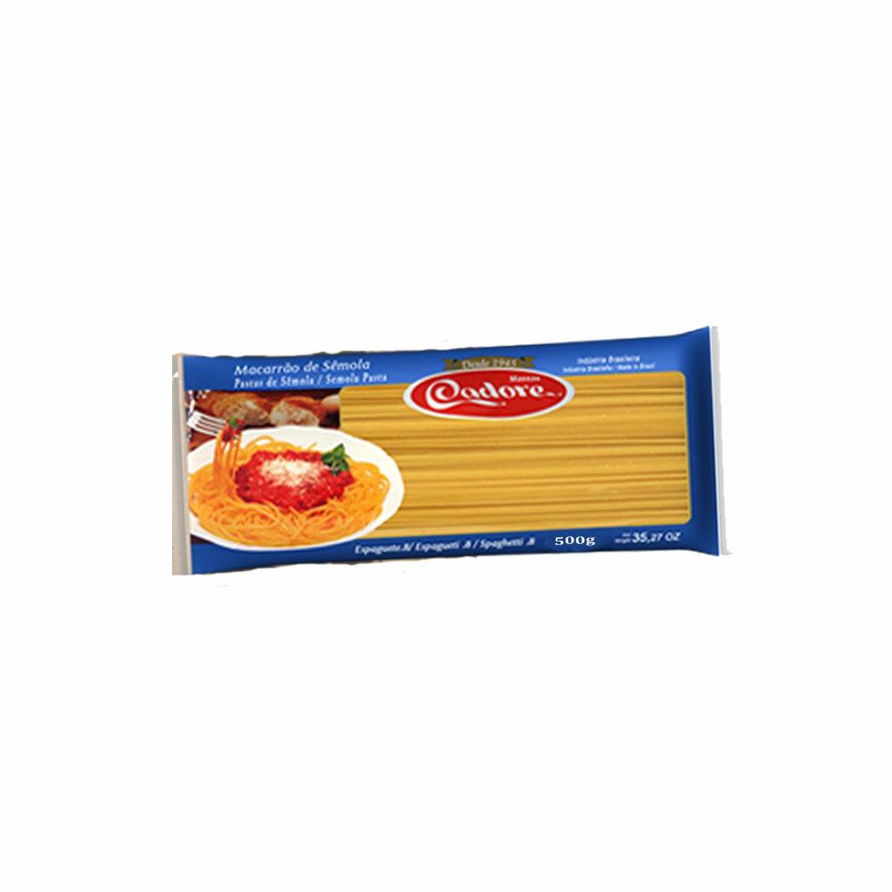 Macarrão Sêmola Espaguete Cadore 500g (Fardo c/ 20)