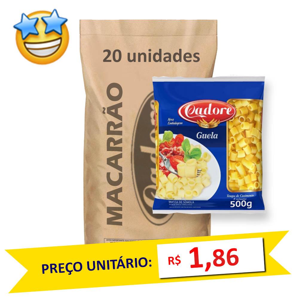 Macarrão Sêmola Guela Cadore 500g (Fardo C/ 20)