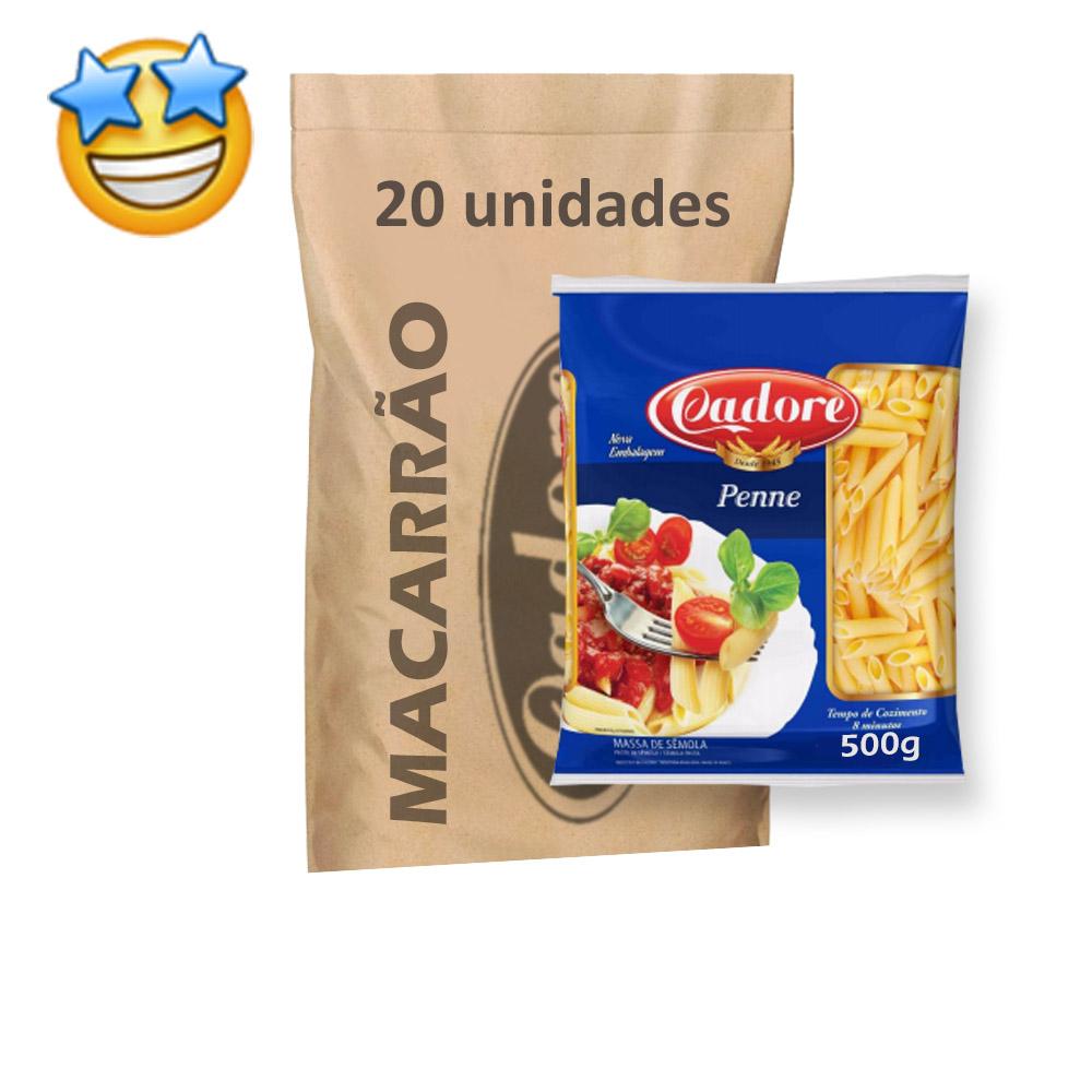 Macarrão Sêmola Penne Cadore 500g (Fardo C/ 20)