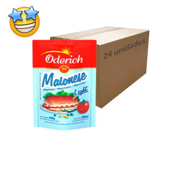 Maionese Light Oderich Sachê 200g (Caixa c/ 24)