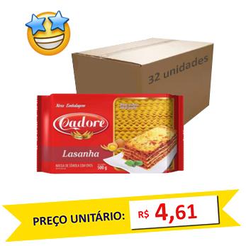 Massa Sêmola Lasanha Ovos Cadore 500g (Fardo 16kg)