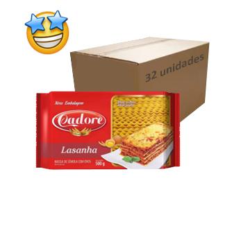 Massa Sêmola Lasanha Ovos Cadore 500g (Fardo c/ 32)