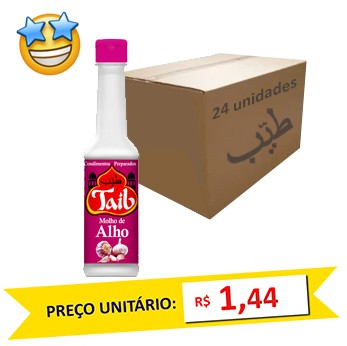 Molho de Alho Taíb 150ml (Caixa c/ 24)  - Grupo Borges Atacadista