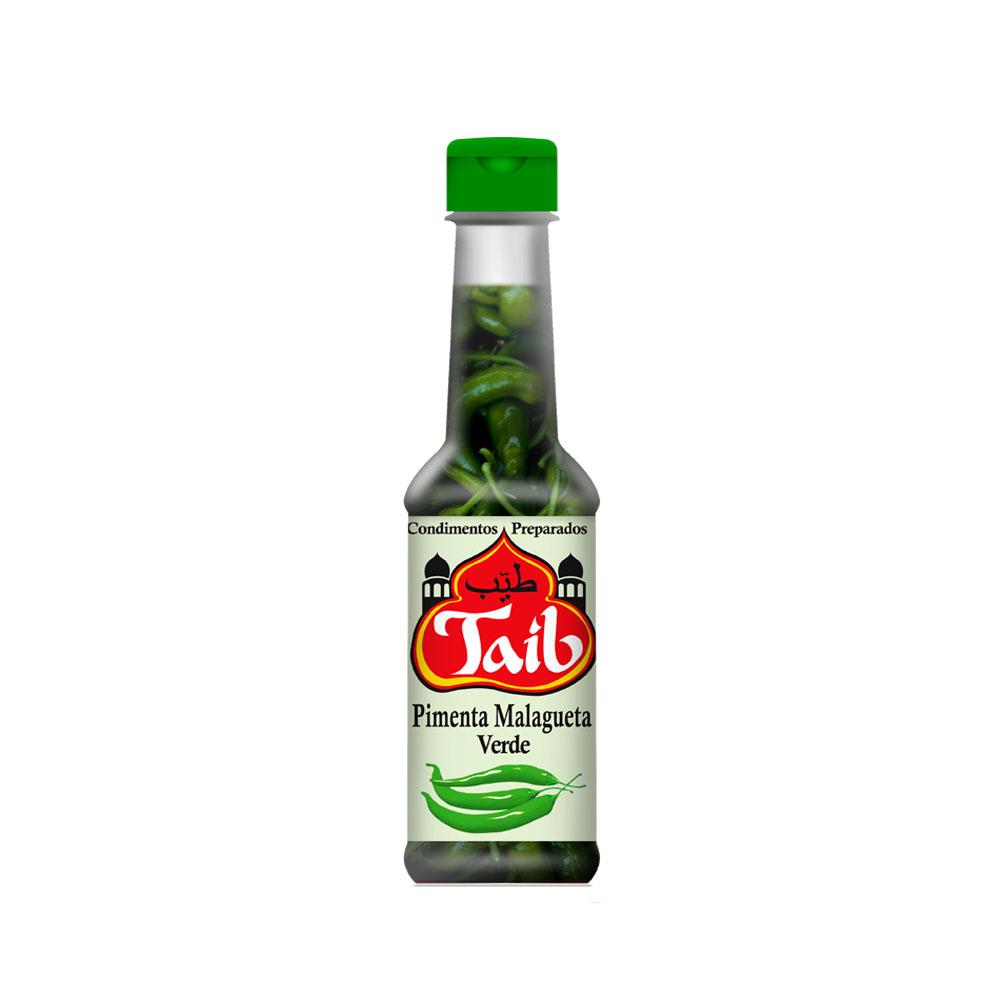 Molho de Pimenta Malagueta Verde 150ml Taib (caixa c/24)