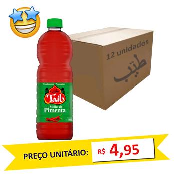 Molho de Pimenta Taíb 1l (Caixa c/ 12)  - Grupo Borges Atacadista