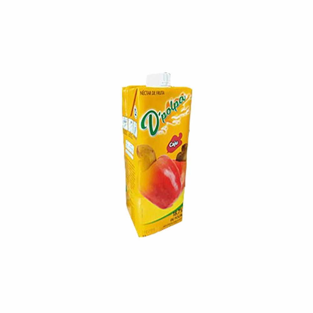 Néctar de fruta Caju D´Polpa 1l (Caixa c/ 12)  - Grupo Borges Atacadista