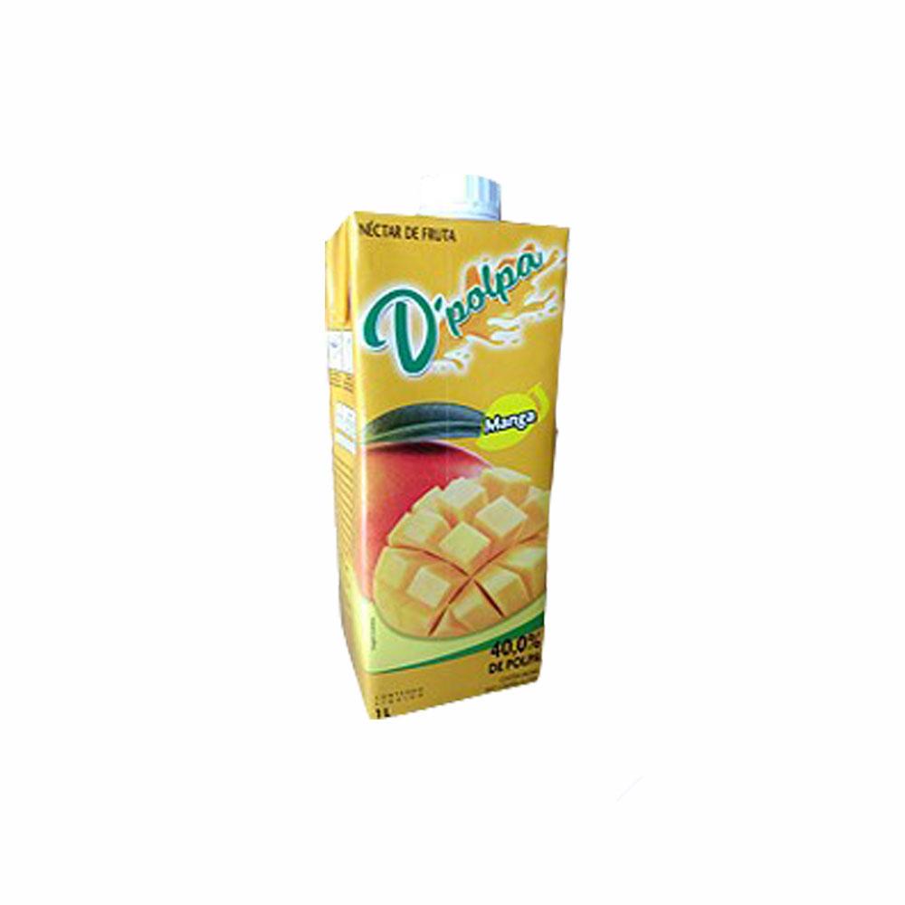 Néctar de fruta Manga D´Polpa 1l (Caixa c/ 12)  - Grupo Borges Atacadista