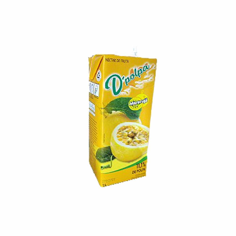 Néctar de fruta Maracujá D´Polpa 1l (Caixa c/ 12)