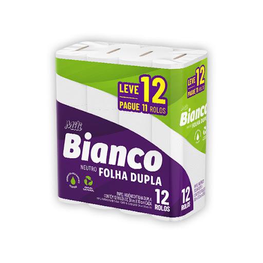 Papel higienico Bianco 30m folha dupla neutro (fardo c/8)