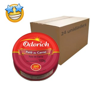Patê de Carne Oderich 100g (Caixa c/ 24)