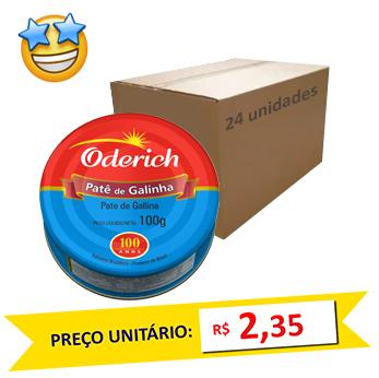 Patê de Galinha Oderich 100g (Caixa c/ 24)