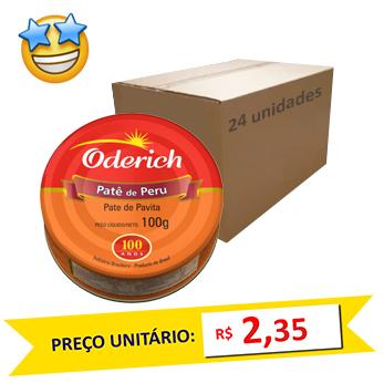 Patê de Perú Oderich 100g (Caixa c/ 24)