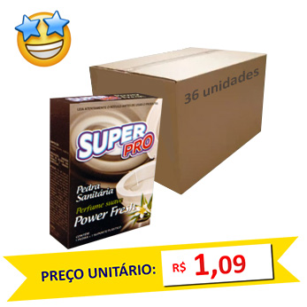 Pedra Sanitária Power Fresh SuperPro (Caixa c/ 36)  - Grupo Borges Atacadista