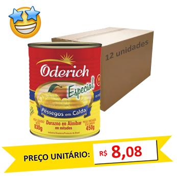 Pêssego em Calda Oderich 450g (Caixa c/ 12)