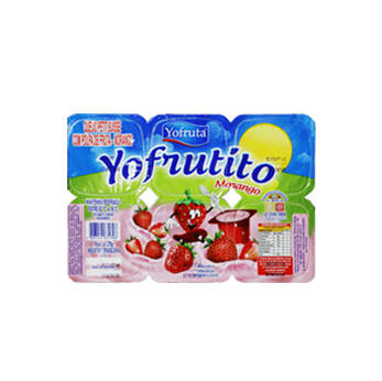 Iogurte Petit Suisse Morango Yofruta - Caixa c/ 24