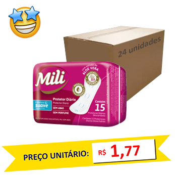 Protetor Íntimo Diario Mili 15 un (Caixa c/ 24)