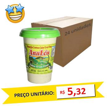 Requeijão Ervas Finas Ana Léa 200g (Caixa c/ 24)